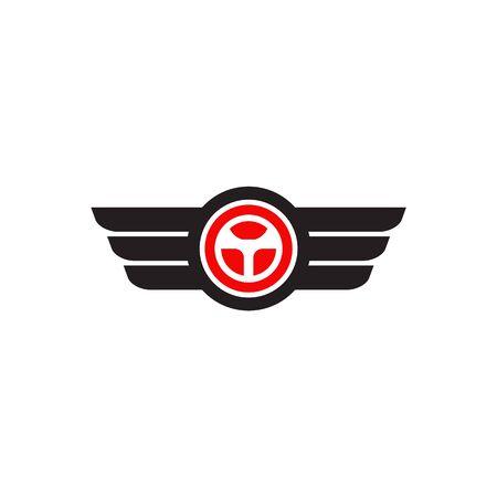Car steering icon logo design vectortemplate Stock Vector - 134532684
