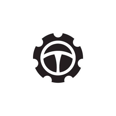 Car steering icon logo design vectortemplate Stock Vector - 134532778