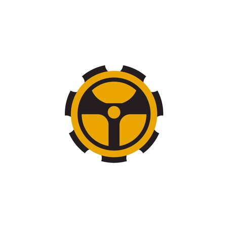 Car steering icon logo design vectortemplate Stock Vector - 134532774
