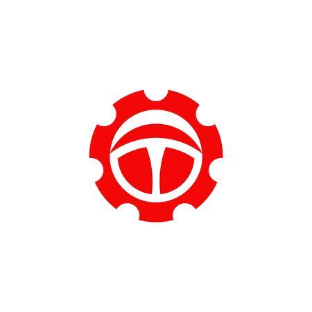 Car steering icon logo design vectortemplate Stock Vector - 134532775