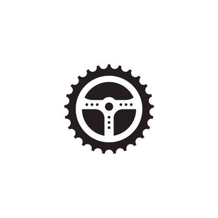 Car steering icon logo design vectortemplate Stock Vector - 134532780