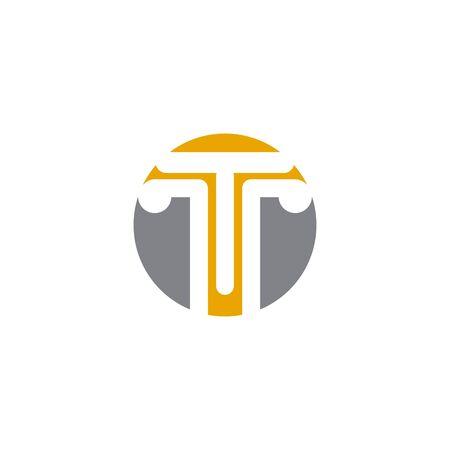 Concrete pillar icon logo design inspiration vector template Archivio Fotografico - 136519504