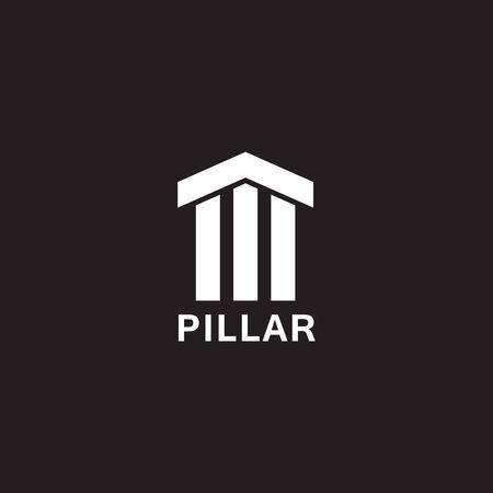 Concrete pillar icon logo design inspiration vector template Archivio Fotografico - 136519505