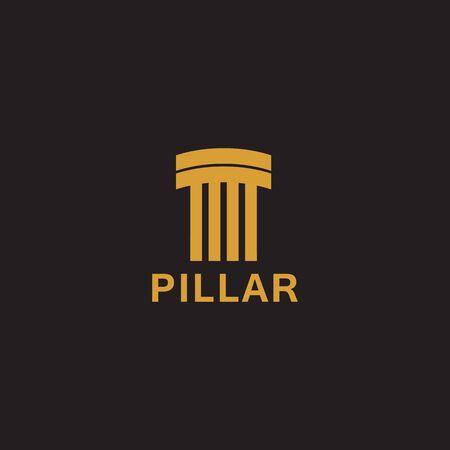 Concrete pillar icon logo design inspiration vector template Archivio Fotografico - 136519509