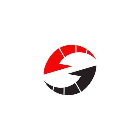 S letter arrow logo design vector illustration template