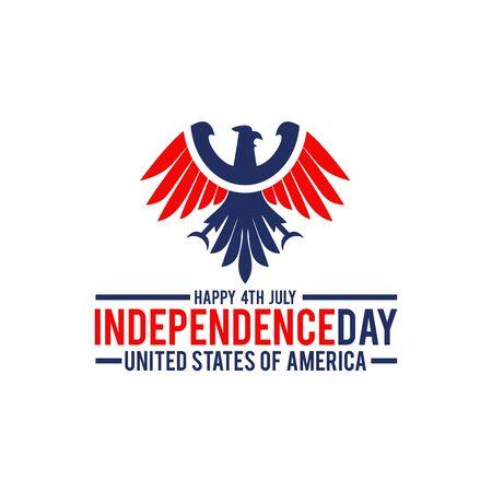 American flag and emblem logo design vector illustration template