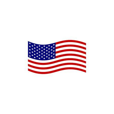 American flag and emblem logo design vector illustration template Logó