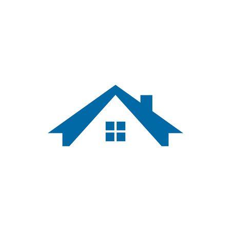 Modèle d'illustration vectorielle d'inspiration de conception de logo à la maison