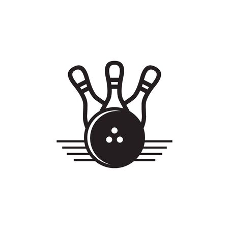 Bowling sport icon logo design inspiration vector template