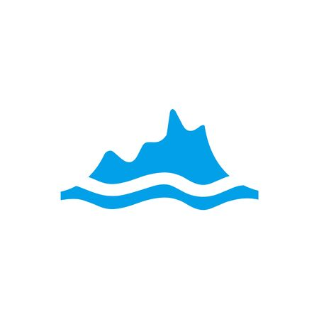 Iceberg logo icon design illustration vector template