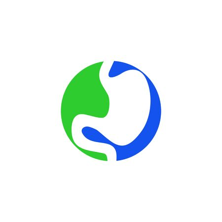 Stomach icon logo design inspiration vector template