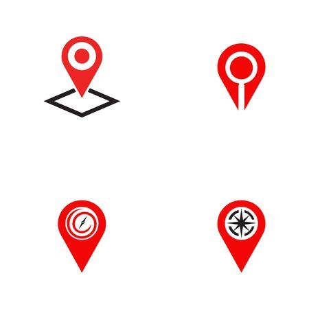 Location pin icon logo design inspiration vector template