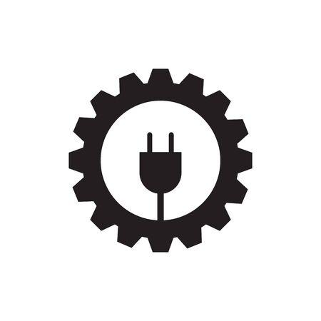 Electric company logo design inspiration vector template