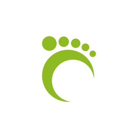 Foot icon logo design inspiration vector template illustration Archivio Fotografico - 137253438