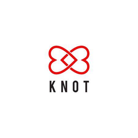 Knot love icon logo design inspiration vector template