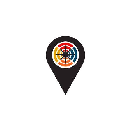 Pin location icon logo design inspiration vector template