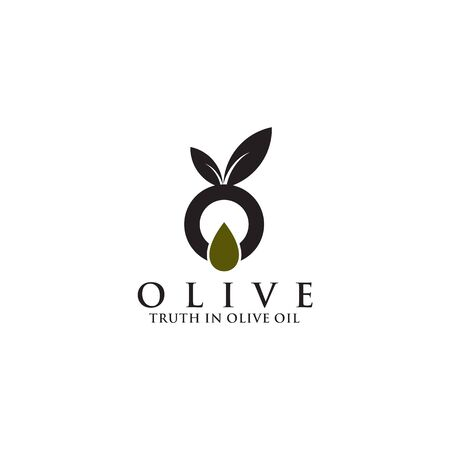Olive oil business manufacturing company logo design vector illustration template