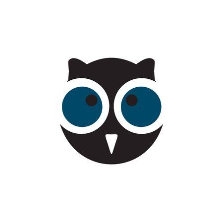 Owl bird logo icon design inspiration vector template