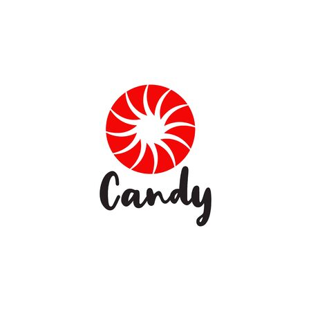 Sweet candy logo icon design illustration vector template