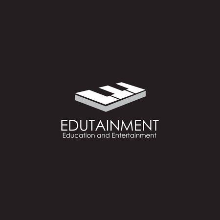 Piano logo design vector illustration template for music instrument Illustration