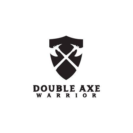 Crossed axes logo icon design inspiration vector template 일러스트