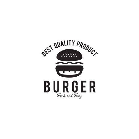 Burger logo design inspiration icon vector illustration template