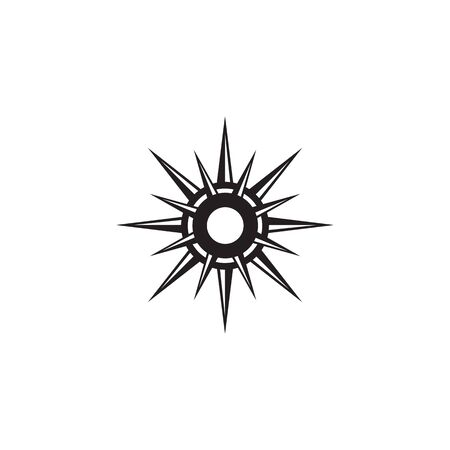 Compass logo icon design inspiration vector illustration template