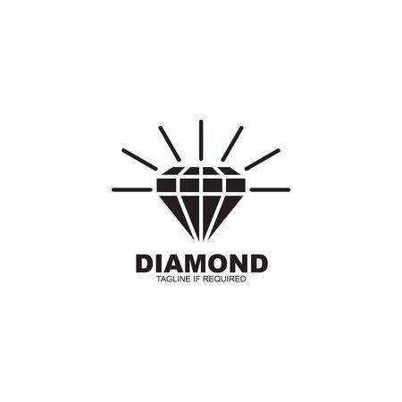 Simple luxury diamond icon logo design vector illustration template