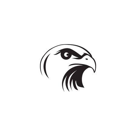Eagle vogel pictogram logo ontwerp inspiratie vector illustratie sjabloon