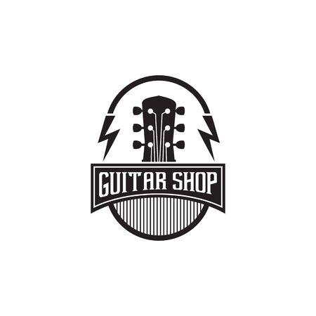 Guitar logo design inspiration vector template