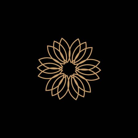 Lotus flower logo design inspiration vector illustration template Archivio Fotografico - 136972059