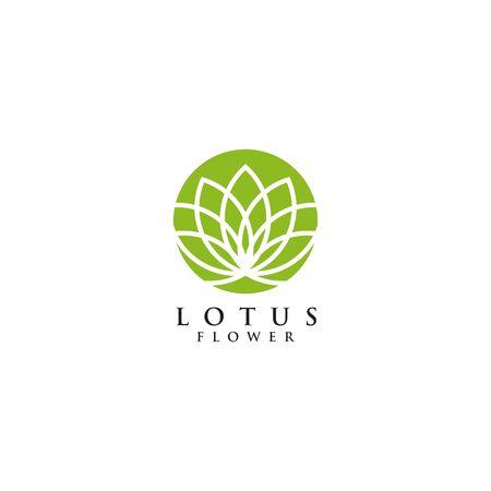 Lotus flower logo design inspiration vector illustration template Archivio Fotografico - 136972060