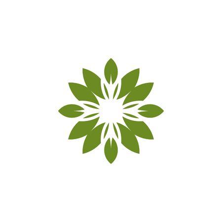 Lotus flower logo design inspiration vector illustration template Archivio Fotografico - 136972062