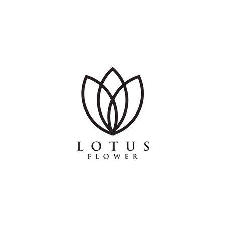 Lotus flower logo design inspiration vector illustration template Archivio Fotografico - 136972064