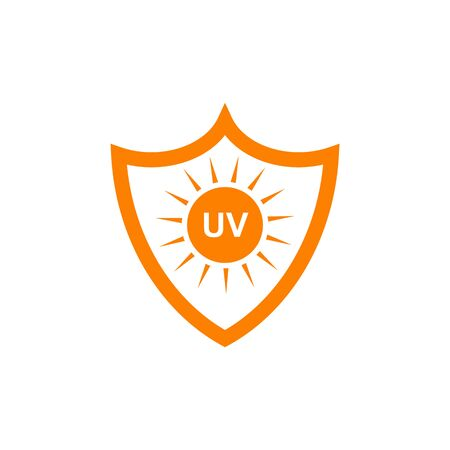 Ultra violet ray protection inspiration emblem logo design vector illustration template