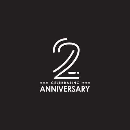 2nd Year Anniversary Design Illustration Template Royalty Free Cliparts Vectors And Stock Illustration Image 137226712