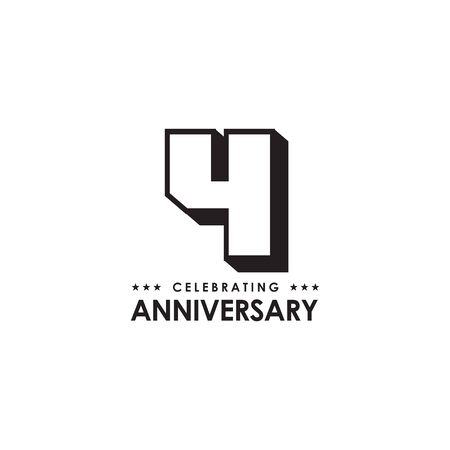 4th year anniversary  design  template