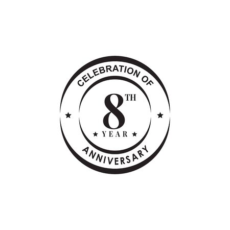 8th year celebrating anniversary   design   template