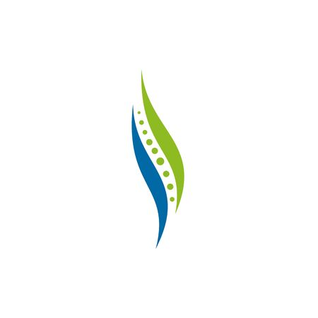 template logo design for chiropractic clinic