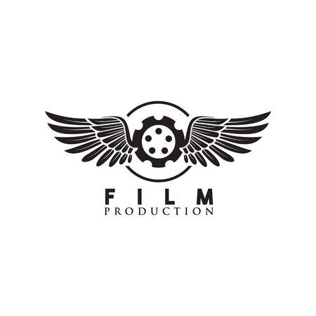 Movie maker company logo design vector template