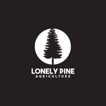 Pine tree icon logo design vector template