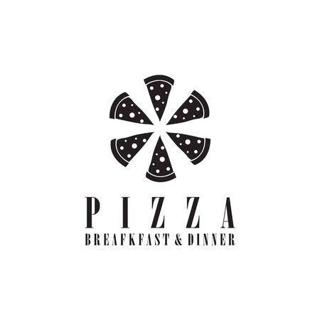 Pizza restaurant logo icon design vector template
