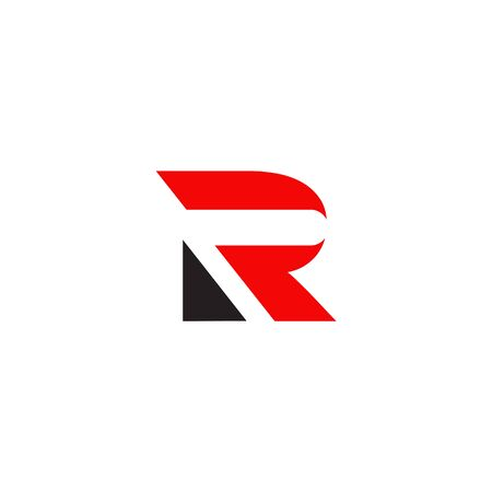 R brief eerste pictogram logo vector ontwerpsjabloon Logo