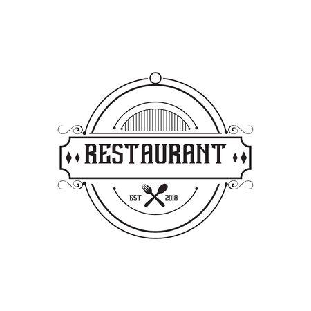 Restaurant logo design inspiration concept vector template Logo
