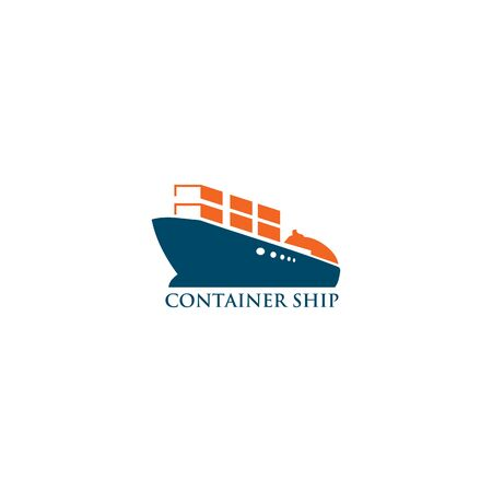 Ship boat logo design vector illustration template