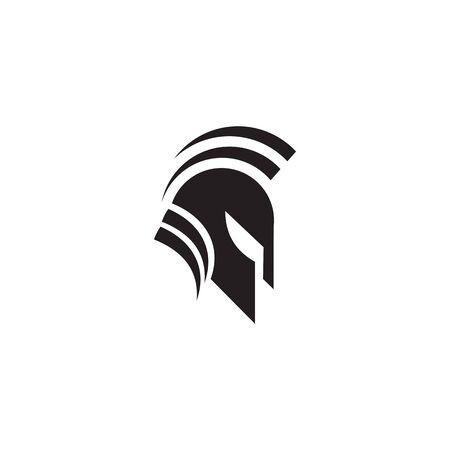 Spartan warrior helmet logo design vector illustration template 向量圖像