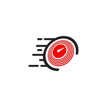 Speedometer icon logo design vector illustration template
