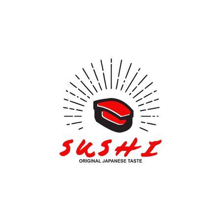 Sushi restaurant logo icon design vector template Banque d'images - 137772112