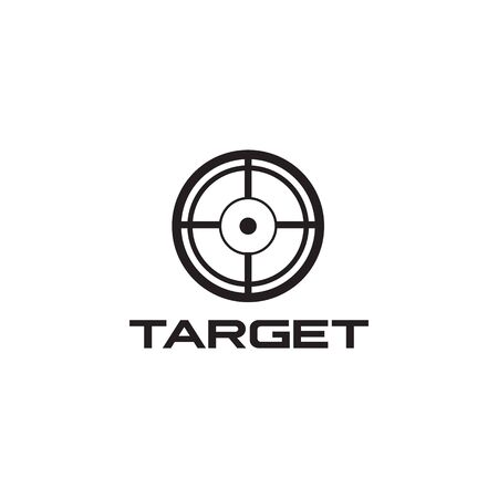 Target icon logo design vector illustration template