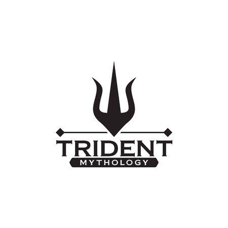Trident logo icon design vector illustration template